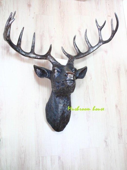 點點蘑菇屋{雄偉鹿頭飾品}歐洲精品 大型 鹿頭掛飾 雄赳赳的鹿角 禮品 精緻 氣勢磅礡 鄉村風雜貨 現貨免運