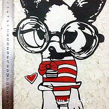 『ღIAsa 愛莎ღ手作雜貨』大眼鏡狗狗吉娃娃服裝燙圖熱轉印燙畫DIY狗狗燙圖布貼