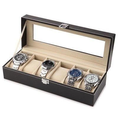 首飾盒 手錶收納盒開窗皮革首飾箱高檔手錶包裝整理盒手盤手錶架   全館免運