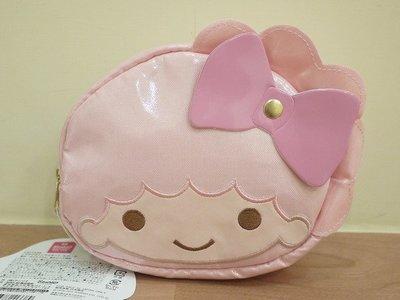 *凱西小舖*日本進口三麗鷗正版雙子星LALA頭型收納/化妝包