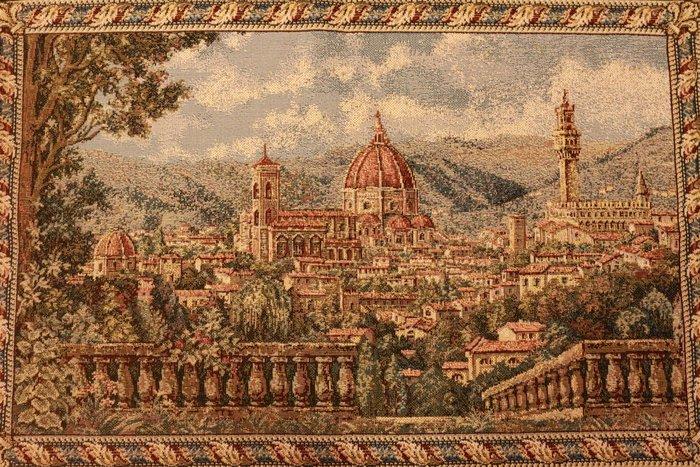 (已售)【家與收藏】 特價稀有珍藏歐洲古典義大利優雅佛羅倫斯風景小幅刺繡畫/壁飾7