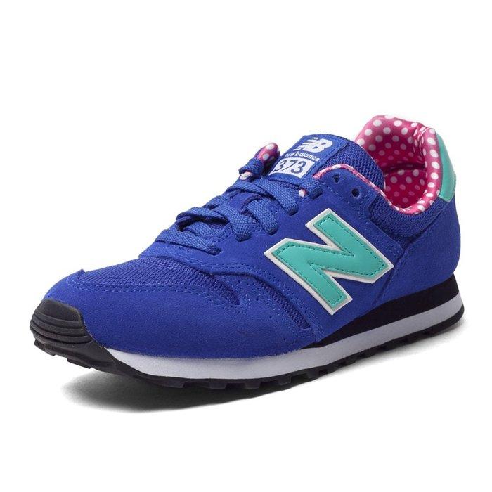 百狗體育.NEW BALANCE(nb 373) WL373BGP 女用復古休閒鞋 藍/小白點 韓版 芝麻街 麂皮