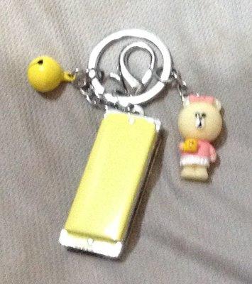 全新熊口琴鑰匙圈