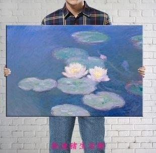 【凱迪豬生活館】睡蓮 莫奈 大師作品名畫裝飾畫壁畫現代油畫風景畫KTZ-201010