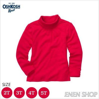 『Enen Shop』@OshKosh Bgosh 紅色抓皺款高領長袖上衣 #453C199|2T **零碼出清**