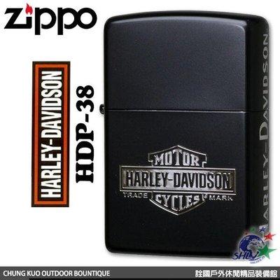 馬克斯 ZP415 Zippo 日系 Harley Davidson 哈雷 消光黑塗裝三面蝕刻款 / HDP-38