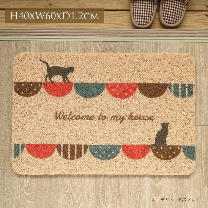 【貓下僕同盟】日本貓雜貨 貓咪塑膠地墊 室外庭院踏墊 歡迎光臨腳踏墊 咖啡店 工業風 美式風格