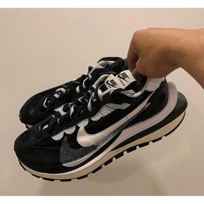 全新正品  Sacai X Nike VaporWaffle 黑白 cv1363-001