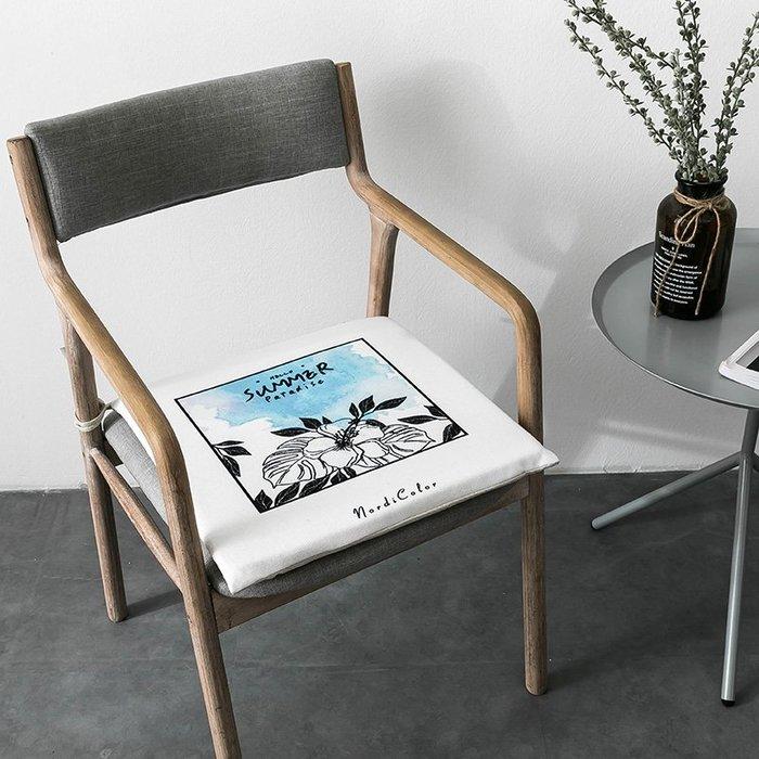 SX千貨鋪-北歐簡約坐墊辦公室墊子汽車亞麻棉麻椅墊客廳餐廳沙發可拆洗坐墊