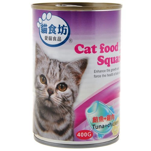 【寵物王國】貓食坊-鮪魚+雞肉400g