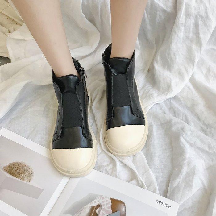 999短靴 靴子 馬丁靴 牛津靴  綁帶高幫鞋秋季新款街拍網紅同款百搭板鞋學生原宿厚底女鞋