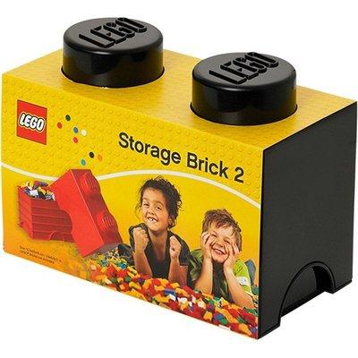 現貨可超取【LEGO 樂高】100% 全新正品 1x2 積木收納盒 - 黑色 storage brick 2