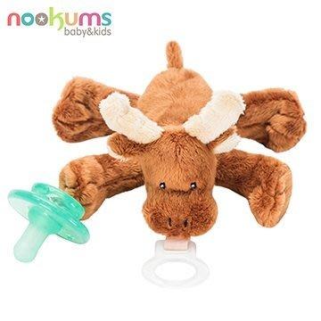 【魔法世界】美國 nookums 寶寶可愛造型安撫奶嘴/玩偶-小麋鹿【附贈母乳實感奶嘴,適用於90%以上奶嘴】