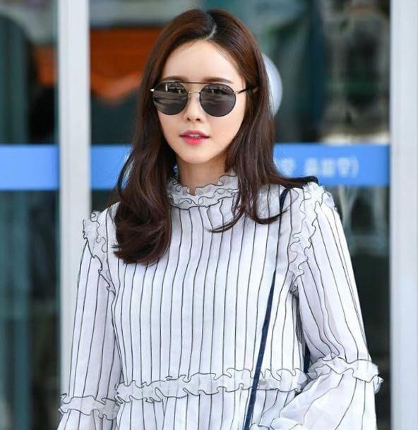 Paul Hueman 韓國熱銷品牌 銀色金屬復古圓框太陽眼鏡 水銀鏡面 PHS883D 883 打造徐志摩的懷舊時尚