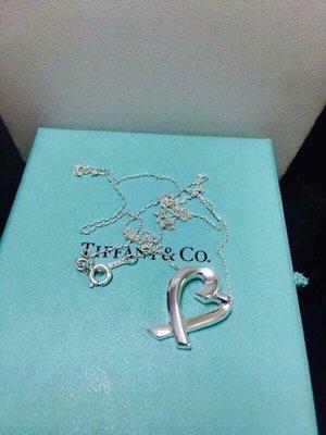 Tiffany&co 925純銀真品愛心項鍊