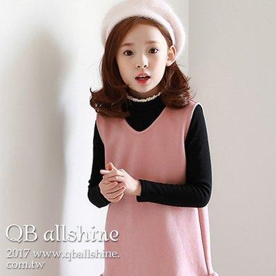 女童上衣 蕾絲緹花小高領刷毛加厚長袖T恤 韓國外貿中大童 QB allshine 17616464