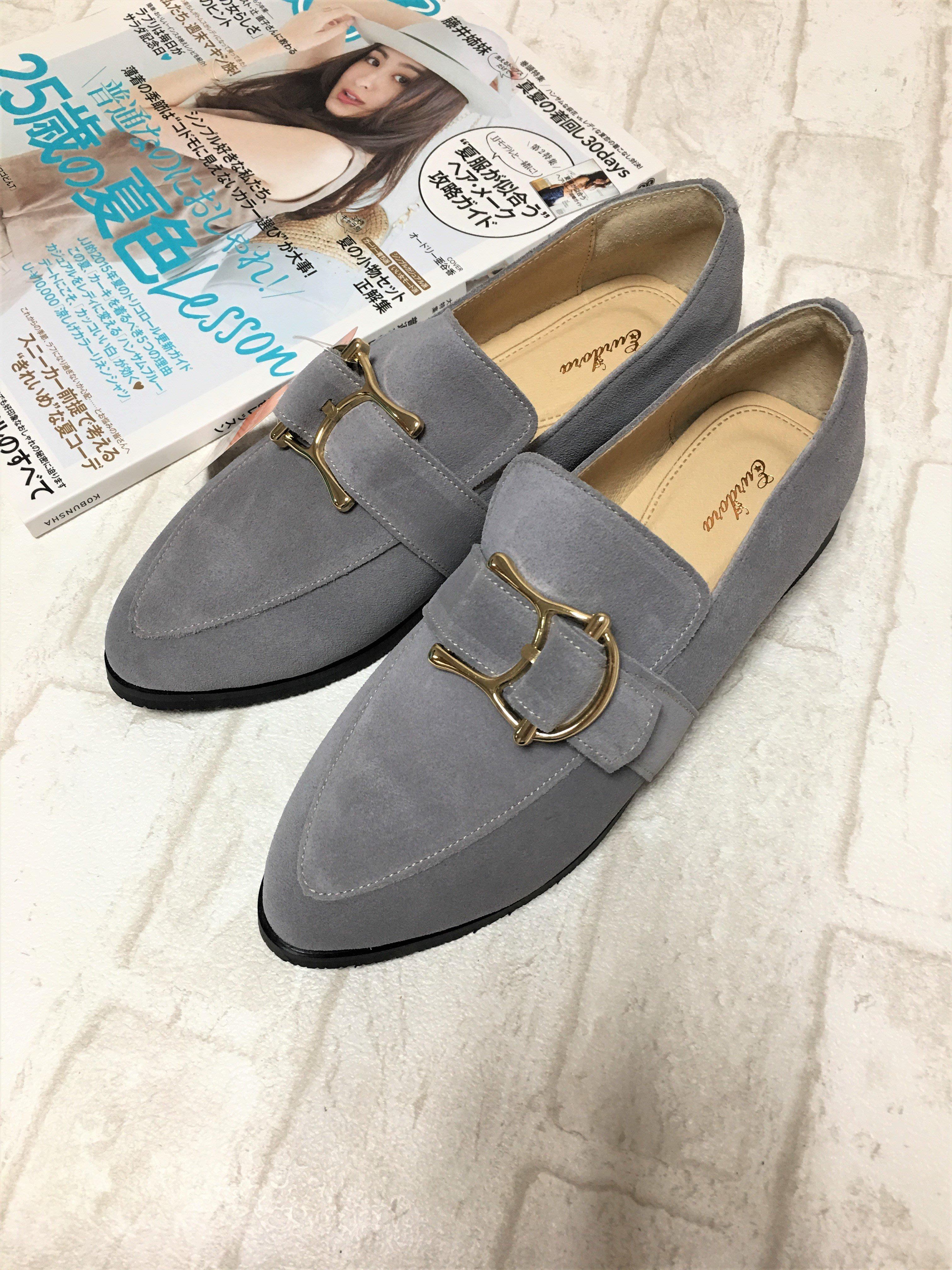 現貨出清~台灣手工製 3M防水真牛皮休閒鞋–藍灰色 1319-23-1   米蘭風情
