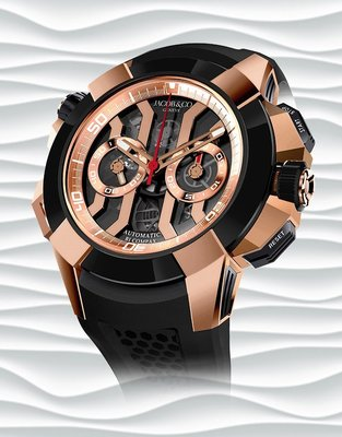 Jacob & Co. 捷克豹 [NEW] EPIC-X Chrono Rose Gold EC311.42.PD.BN.A