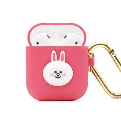 正版 LINE FRIENDS AirPods / AirPods2 藍芽耳機盒保護套 兔兔