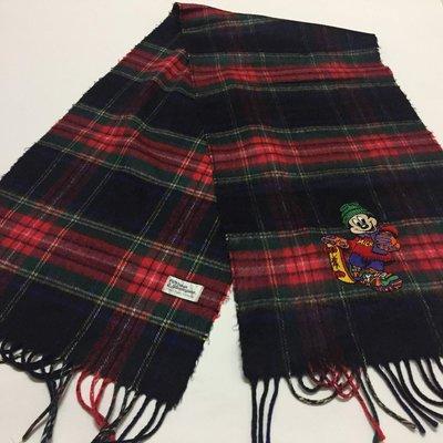 日本 tokyo disneyland 米奇黑紅格紋圍巾 mickey 迪士尼樂園 walt disney