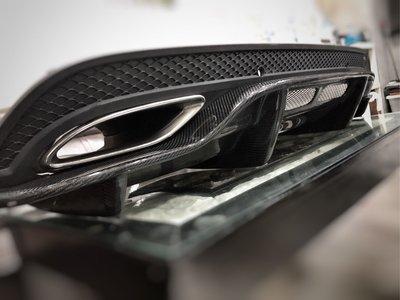 SPY國際 M.Benz W205 S205 AMG保桿 專用 PSM 碳纖維下護板