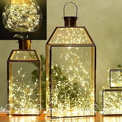 LED 防水銅線燈串 5米50燈 遙控調光插電款 暖白光/白光/彩光/藍光 聖誕/居家/婚宴☆SMILE 創意商品批發