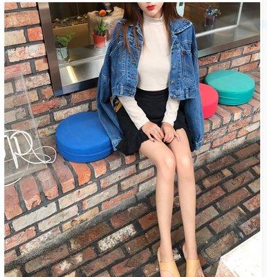 韓版均碼小個子牛仔外套時尚顯瘦可愛加小個子女孩女牛仔裝