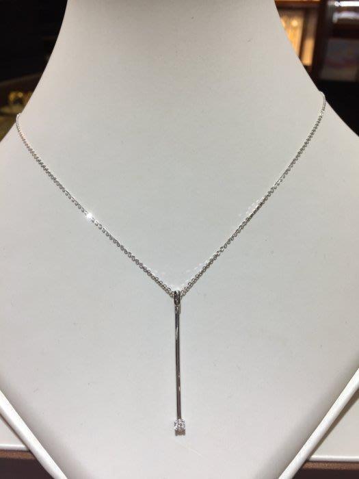 10分天然鑽石項鍊,簡單設計款式適合平時配戴,出清價8800,Y型鍊設計款式