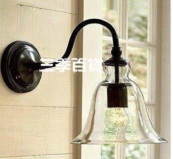 三季現代北歐宜家美式陽臺 Loft 復古 水晶鈴鐺壁燈❖581