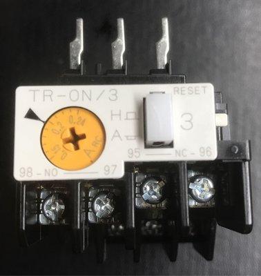 富士 TR-0N/3 三素子、積熱電驛 O.L  TH-RY 、Overload relay、 0.15-0.24A