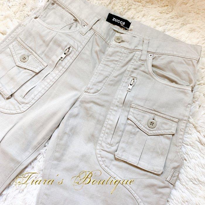 日本精品品牌ZUCCA祖卡 暖灰工作褲 曲線剪裁 精緻六口袋設計 小野冢秋良 日本製全新品含吊牌 (400)