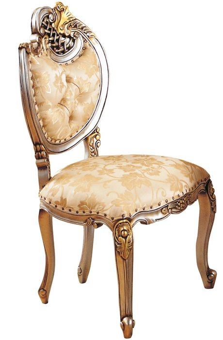 【DH】商品貨號N981-3商品名稱《伯爵》香檳色餐椅。復古貴族風範。時尚傢飾精品。主要地區免運費