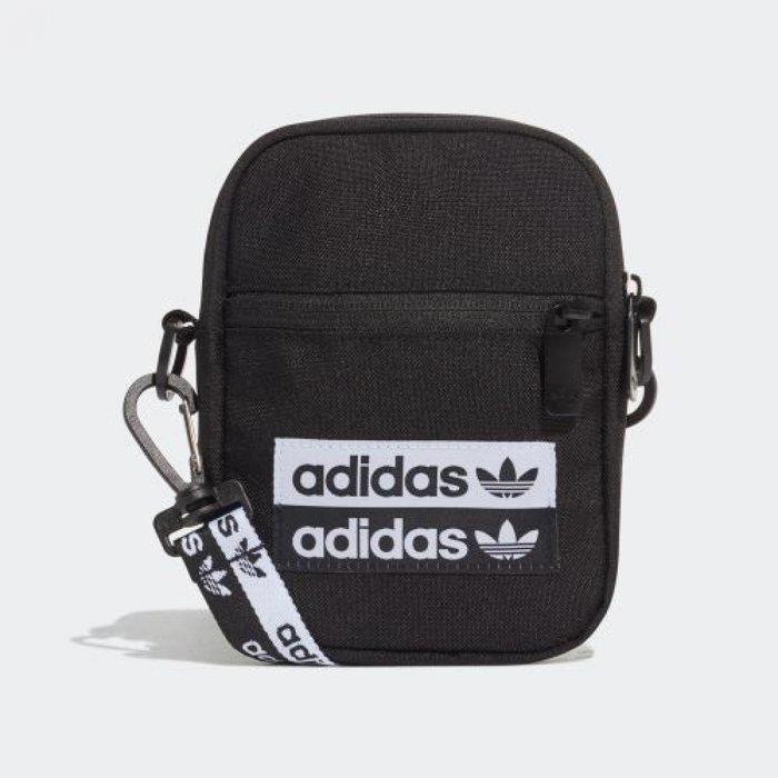 ADIDAS FESTIVAL BAG EJ0975 黑白色 三葉草 餅乾包 手機包 方形包