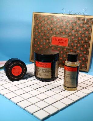 Christophe Robin 法國專業髮品品牌 護髮禮盒三件組 刺梨籽油柔亮修護髮膜 仙人球果籽油柔亮修護髮膜