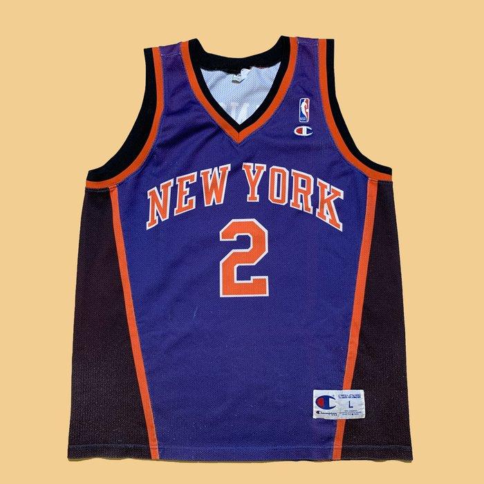 JCI:Vintage Champion NBA 紐約 尼克隊 染印球衣 古著 / 嘻哈 / NY / 東岸 / 冠軍牌