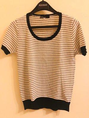 CLEAR IMPRESSION 日系品牌黑白圓領短袖上衣