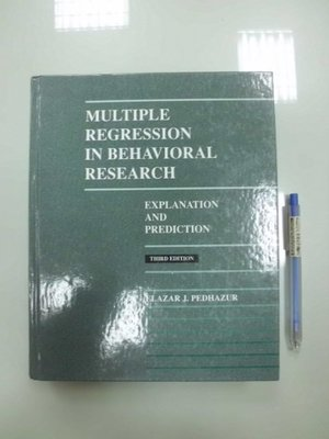 B9-5cd☆1997年『Multiple Regression in Behavioral Research 3/e』