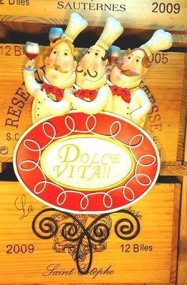 DOLCE VITA半立體鐵雕藝術掛飾招牌: 半立體 鐵雕 鐵飾 掛飾 招牌 酒吧居家 家飾 設計 禮品 櫥窗 展示 雜貨
