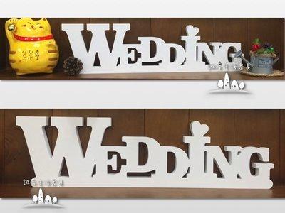 """~誠萍生活傢俱~白色""""WEDDING""""立體字母英文字牌擺飾 DIY裝飾 雜貨 婚禮佈置 民宿佈置 店鋪 直購價$530"""