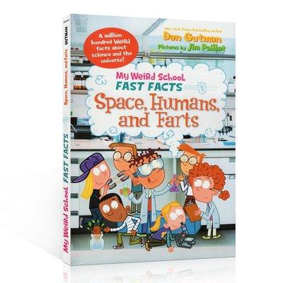 瘋狂學校真實百科系列 英文原版 My Weird School Fast Facts Space, Humans, an