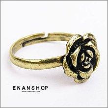 惡南宅急店【0313C】正韓劇 韓國飾品 複古玫瑰花朵戒指可調戒 指環