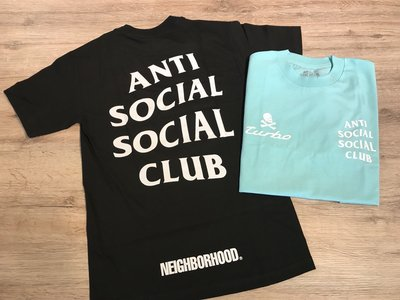【MASS】Anti Social Social Club x Nbhd 911 Teal Tee 黑/水藍