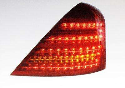 DJD19051025 全新 BENZ 賓士 W221 09 10 11 12 小改款專用 紅白晶鑽LED尾燈 單邊價