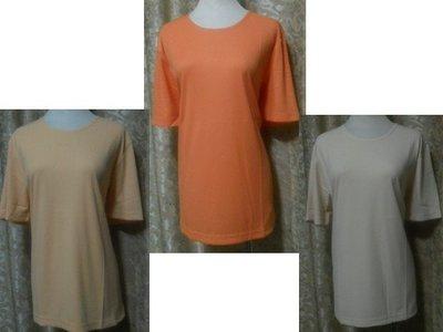 ~麗麗ㄉ大碼舖~大尺寸XL-XXL(46-48吋)白 粉桔 水藍 深橘 黑色羅紋圓領短袖彈性上衣~