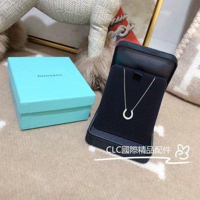 二手正品 Tiffany 蒂芙尼 鉑金U型滿鑽項鏈 鑲鑽馬蹄項鏈 16926914