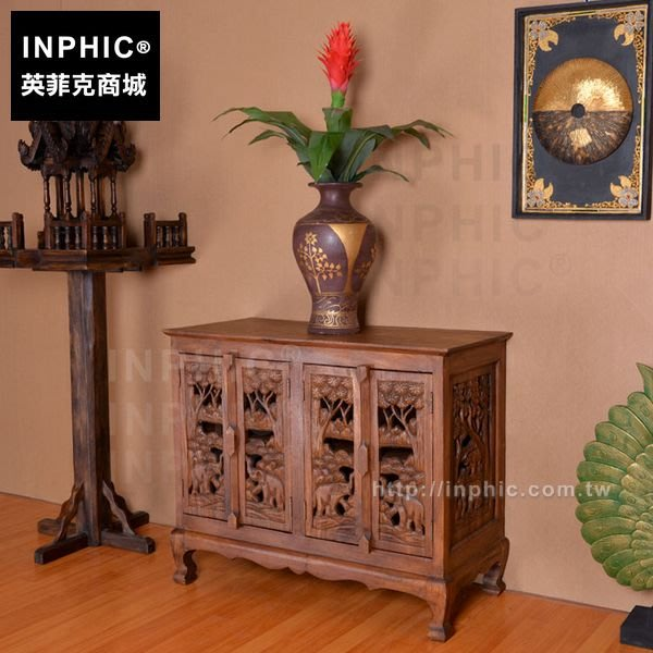 INPHIC-東南亞置物儲藏櫃子大象雕花傢俱泰國傢俱玄關櫃_FMG3