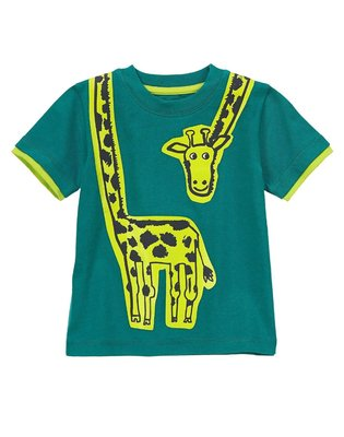 Maple麋鹿小舖 美國購買童裝品牌 GYMBOREE 男童圖案短T * ( 現貨2T )
