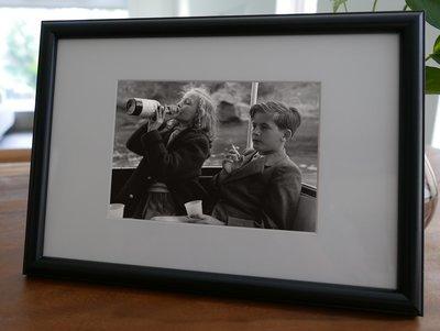 聚鯨Cetacea﹡Art【KLFZ-1224】drinking喝酒/smoking抽菸/kid小孩 畫框相框