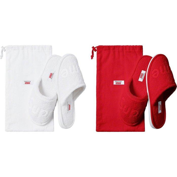 【美國鞋校】預購 SUPREME SS19 Frette Slippers 紅/白
