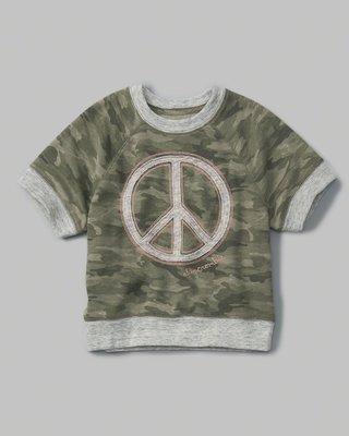 【天普小棧】A&F abercrombie camo crew sweatshirt厚短袖T恤運動衫kids 15/16